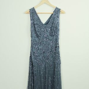 Stunning Blue Beaded Dress- Bought at Nordstrom